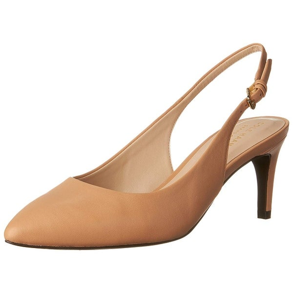 Cole Haan Womens Medora Sling Leather Pointed Toe SlingBack Classic Pumps