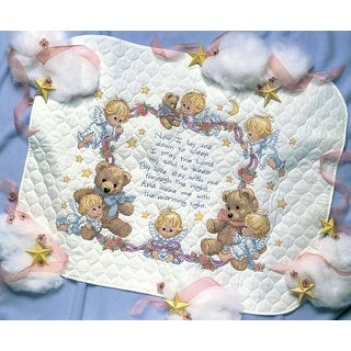 Nighttime Prayer Quilt Stamped Cross Stitch Kit