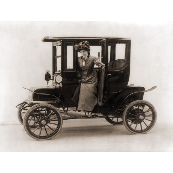 Shop Women Steps From An Electric Car 1908 History