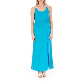 Rebellious One Womens Juniors Maxi Dress Knit Lace-Trim