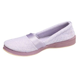 Women's Foamtreads All Season Slip On Slippers with Rubber Sole - Wide - Size 8 1/2 - Mauve - 8.5