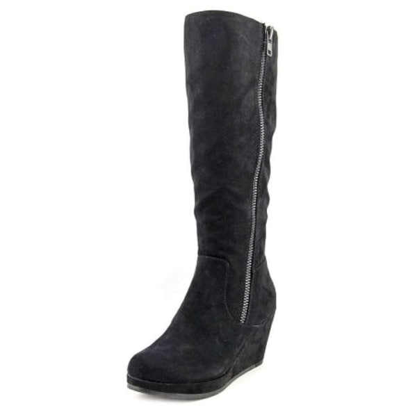 New Directions Womens Lindsay Suede Almond Toe Mid-Calf Fashion Boots