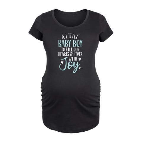 A Little Baby Boy - Maternity Scoop Neck T-Shirt