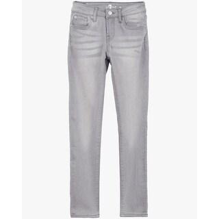 7 For All Mankind Big Girls' Straight Leg, Silver Grey, 10