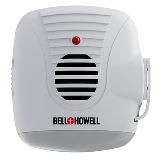 Bell + Howell Ultrasonic Pest Repeller with AC Outlet & Night Light - 4 Pack - White