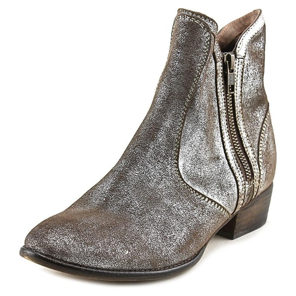 Seychelles Lucky Penny III Women Round Toe Leather Silver Bootie