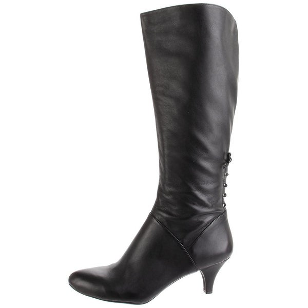 Naturalizer Womens Dinka Leather Pointed Toe Knee High Fashion Boots
