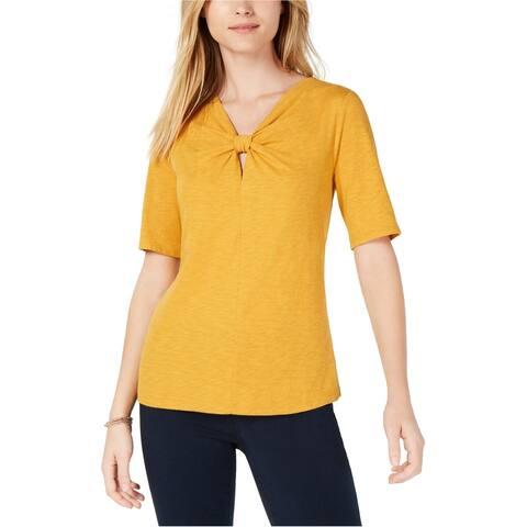 Maison Jules Womens Twisted Basic T-Shirt