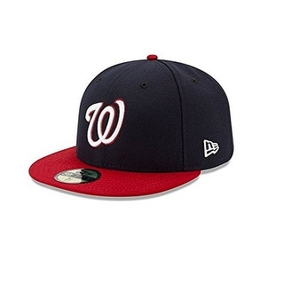 New Era Mens 2017 MLB Game Authentic On Field 59Fifty Cap Washington Nationals - Navy/Red