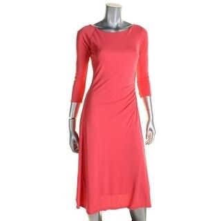 Lauren Ralph Lauren Womens Casual Dress Ruched Fit & Flare