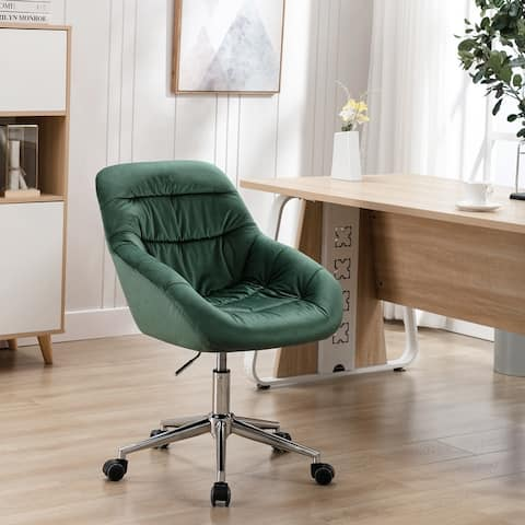 Fabric Upholstered Swivel Ergonomic Adjustable Height Homeoffice Task Chair