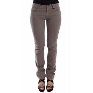 Ermanno Scervino Ermanno Scervino Taupe Beige Slim Jeans Denim Pants Skinny - it40