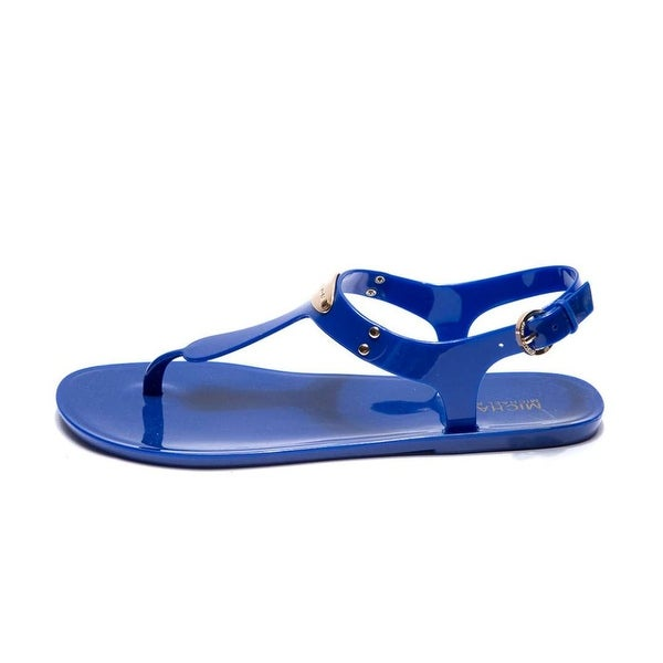 MICHAEL Michael Kors Womens Plate Jelly Split Toe Casual T-Strap Sandals