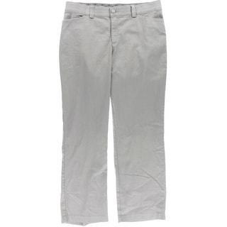 Lee Womens Plus Flat Front Mid-Rise Trouser Pants - 16W