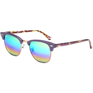 Ray-Ban Clubmaster Mineral Flash Lens 51mm Sunglasses (Green Rainbow/Violet)