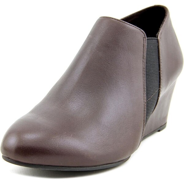 Vionic Elevated Stanton Women Round Toe Leather Brown Bootie