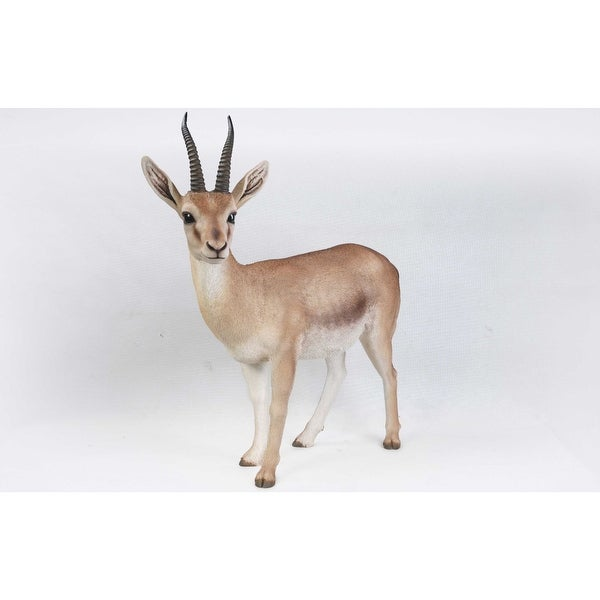 Brown and Ivory Gazelle Garden Statue