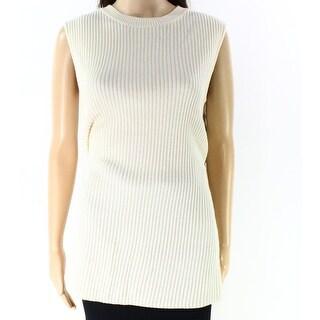 Lauren By Ralph Lauren NEW White Ivory XL Crewneck Wool Sweater Vest