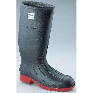 16 in. Steel Toe Safety Knee Boots with Deep Angle, Black -