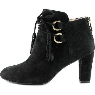 Taryn Rose Womens Trisha Suede Closed Toe Ankle Fashion Boots, Black, Size 7.0