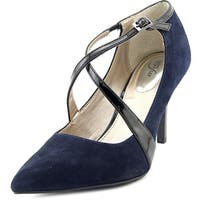 Alfani Trudiee Women  Pointed Toe Suede Blue Heels
