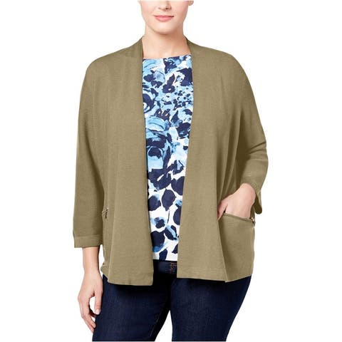 Charter Club Womens Open-Front Cardigan Sweater