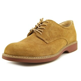 Bass Pasadena Men Round Toe Suede Tan Oxford