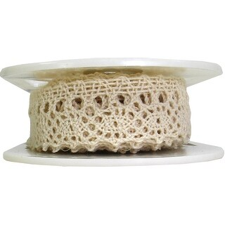 """Hanging Cluny Lace 1""""X12yd-Natural"""