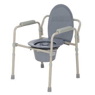 Link to Iron Frame Folding Toilet Commode Seat Beige Whit - Gray Similar Items in Daily Living Aids