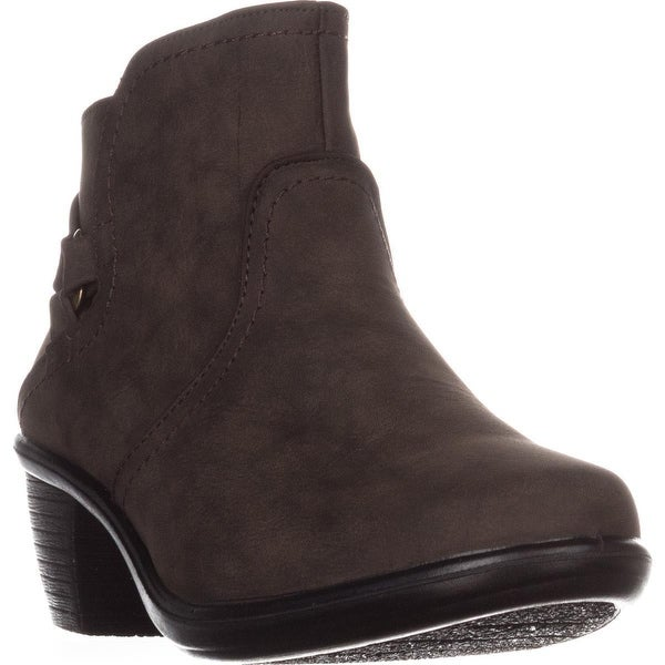 Easy Street Dawnta Side Zip Ankle Boots, Smoke Matte - 8.5 us