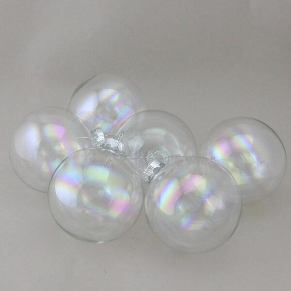 "6-Piece Iridescent Ball Christmas Ornament Set 3.25"" (80mm)"