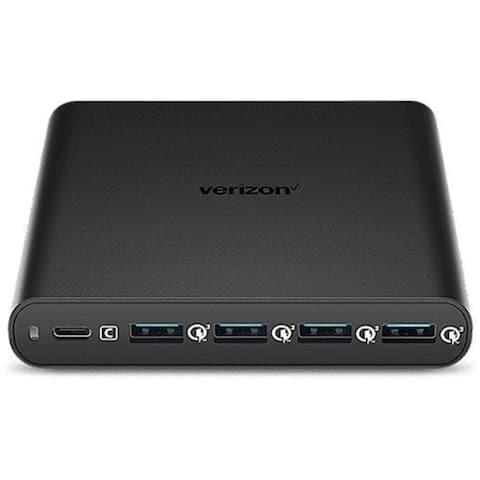 Verizon 5-Port Charging Hub w/ USB-C and USB-A Fast Charge - Black - 5PORTPDHUB