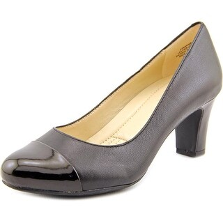 Easy Spirit Raphael  Women  Cap Toe Leather Black Heels
