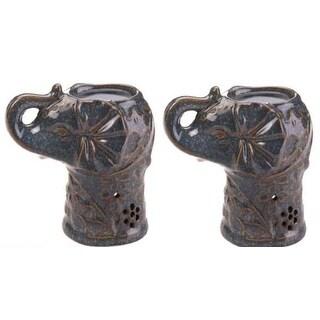 2 Ceramic Elephant Oil Warmers