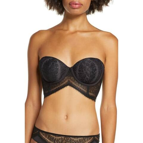 Calvin Klein Medallion Lace Lightly Lined Longline Strapless Bra
