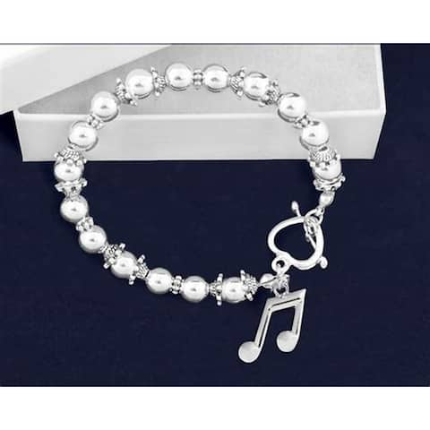 Music Note Beaded Charm Bracelet
