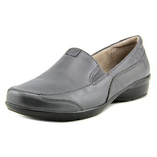Naturalizer Channing Women WW Round Toe Leather Gray Loafer