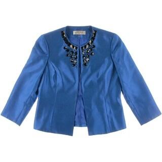 Kasper Womens Shimmer Embellished Blazer - 4