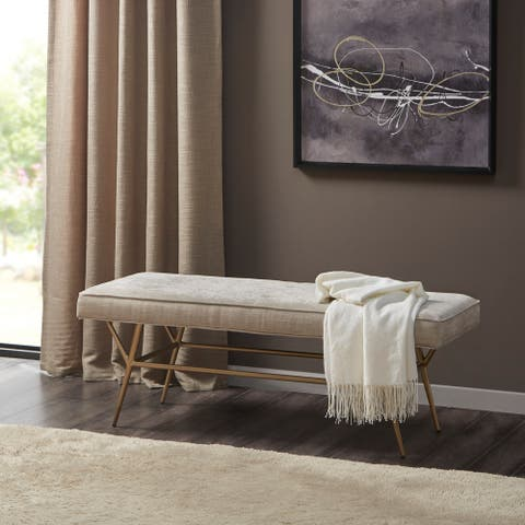 Martha Stewart Tinsley Light Tan Accent Bench