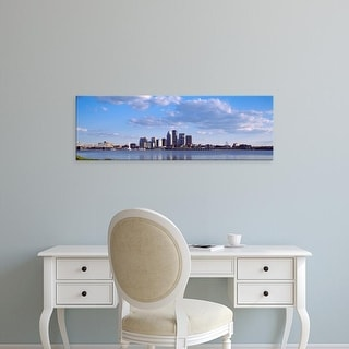 Easy Art Prints Panoramic Image 'City at the waterfront, Ohio River, Louisville, Kentucky' Canvas Art