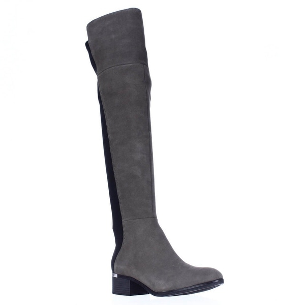 B35 Rene Over The Knee Boots, Grey