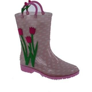 """Yokids Girls """"Melinda"""" Rain Boots - pink/flora"""