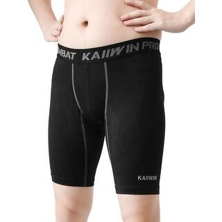 M Size Mens Bodybuilding Running Jogging Sports Training Tight Short Pants Black