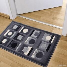 "Allstar Grey Doormat Accent Rug Modern Formal Area Rug (2' 0"" x 3' 3"")"