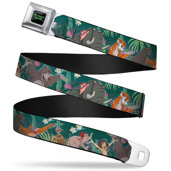 The Jungle Book Full Color Black Green The Jungle Book 8 Character Scene Seatbelt Belt