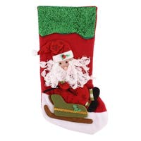 Family Christmas Day Cotton Blends Handcraft Stocking Gift Holder Colorful