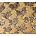 """G Home Collection Luxury Yellow Arrows Pattern Jacquard Pillow 20""""X20"""" - Thumbnail 3"""