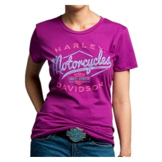 Harley-Davidson Women's Twisted Drifter Short Sleeve Crew Neck Tee 5J27-HC9T