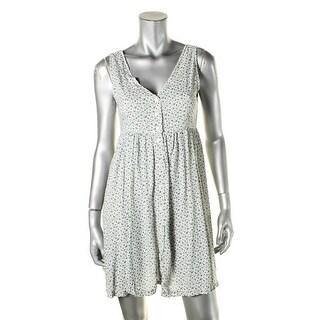 Denim & Supply Ralph Lauren Womens Shirtdress Floral Print Sleeveless - s