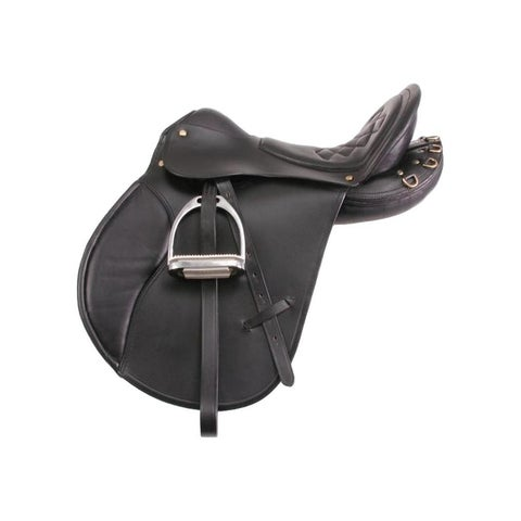 EquiRoyal Saddle English Comfort Trail Lightweight Wide Padded - 21""